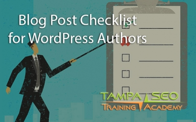 Blog Post Checklist for WordPress Authors