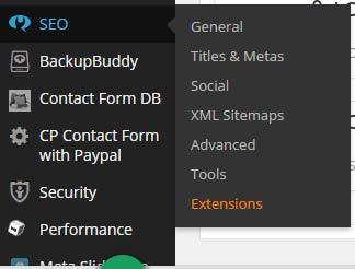 Yoast WordPress SEO Dashboard Menu After 2.0 Update