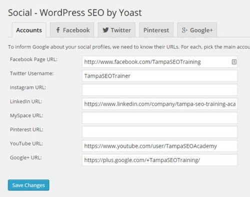 Add all your social media links for better Knowledge Graph potential.